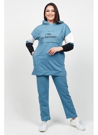 Womenice Eşofman Takım Mavi